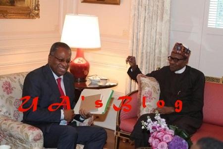 President Buhari With Dangote In Washington As He Prepares To Meet Donald Trump