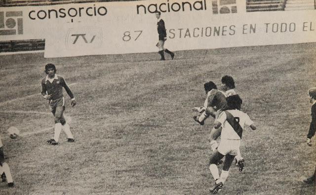 Chile y Perú en partido amistoso, 19 de abril de 1981