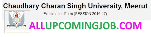 ccs university Examination Form 2016/17