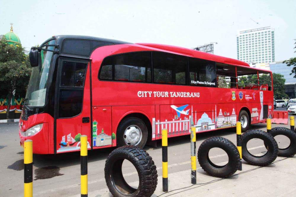 Keliling Berwisata di Tangerang Gratis, Naik Bis ini