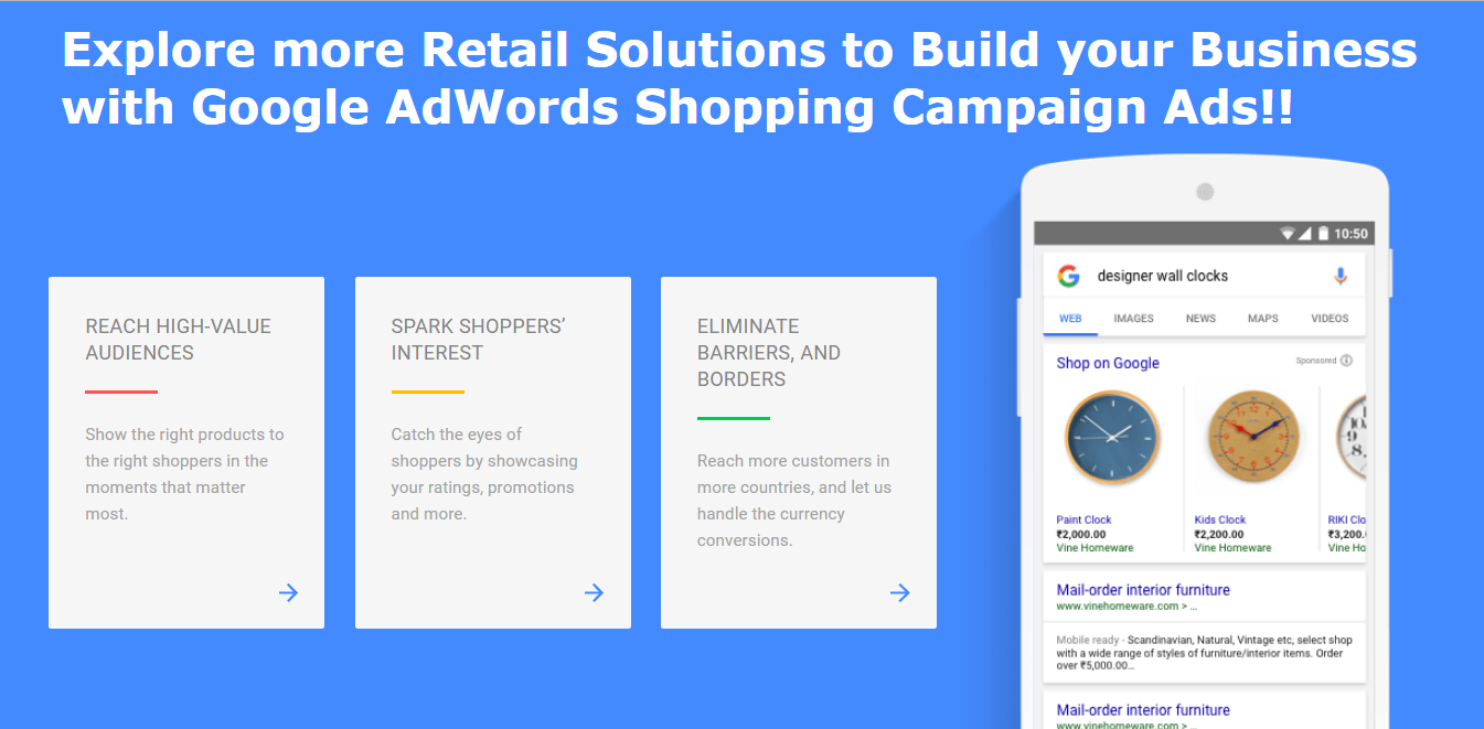 Google AdWords Shopping Ads Services | Showcase Shopping Ads