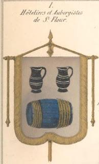 Bannière des Hôteliers, aubergiste, cabaretiers  de st Flour