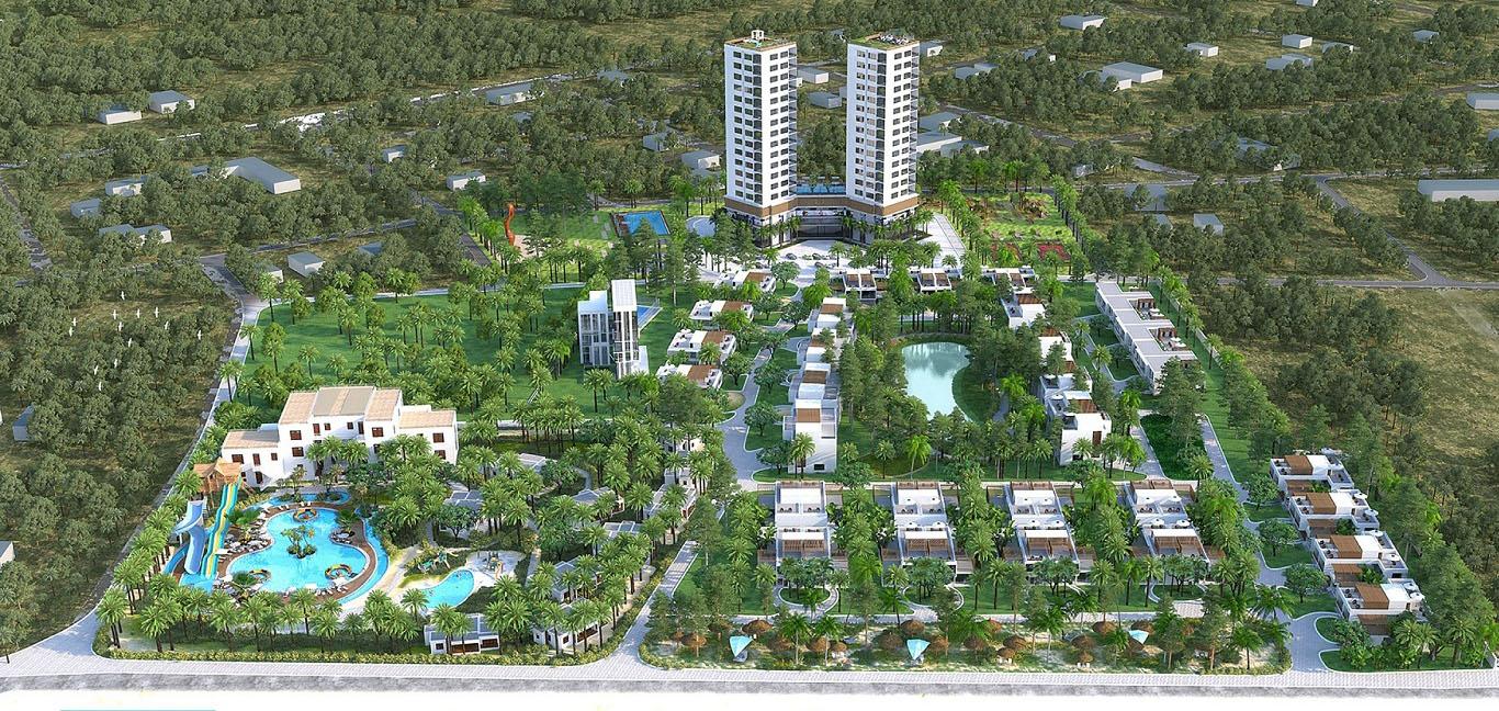 Phoi canh zenna villas Resort