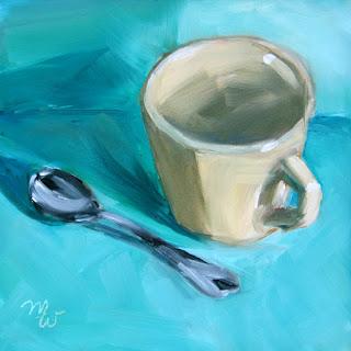 Coffee or Tea original oil painting by artist Merrill Weber