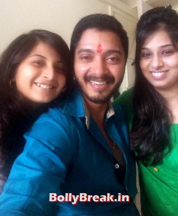 Shreyas Talpade with his sisters, Bollywood's Raksha Bandhan Pics - 2014