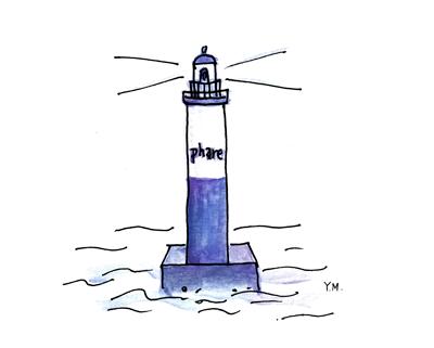 lighthouse by Yukié Matsushita