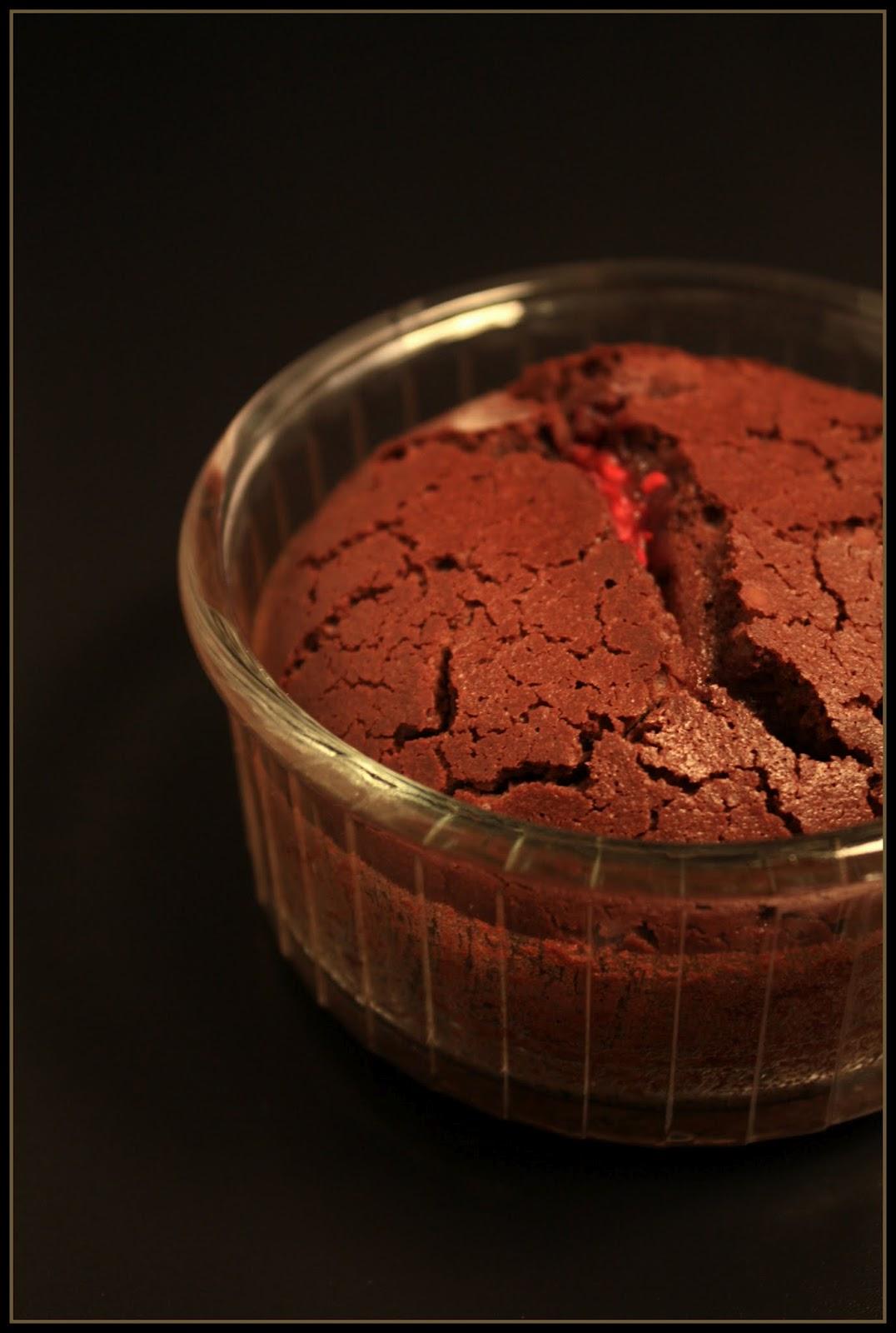 Fondant Chocolat Au Coeur Coulant Framboise Objectif Zero Miette