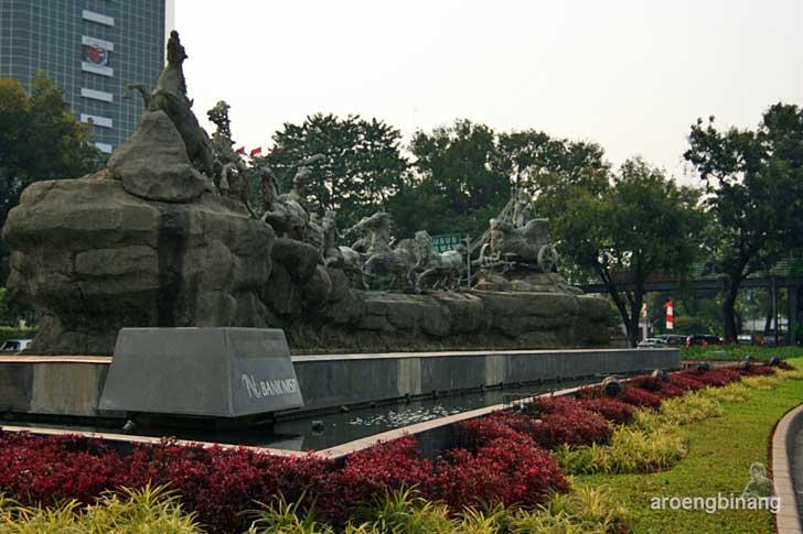 patung arjuna wijaya thamrin jakarta