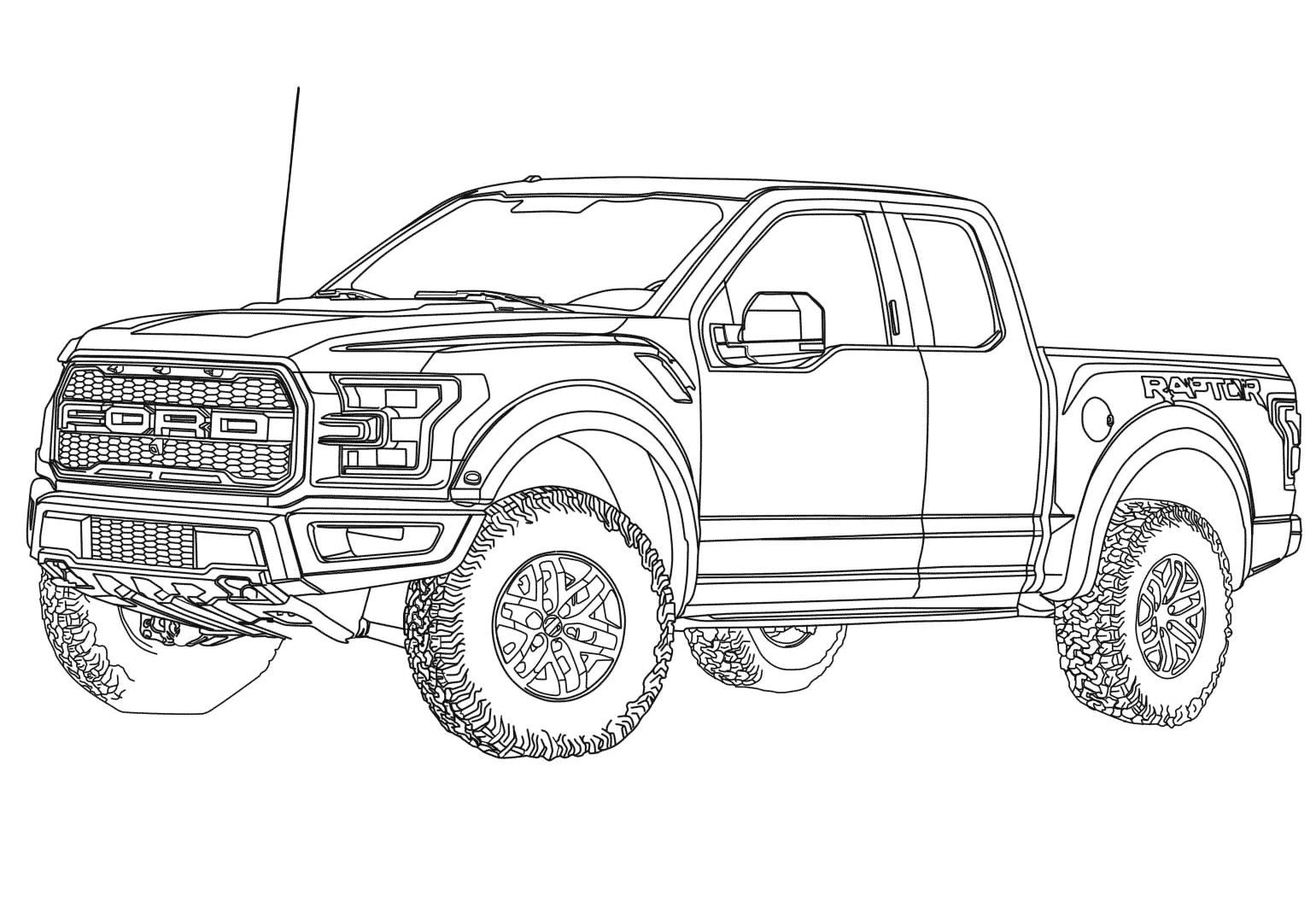 Ford F150 Raptor Coloring Page