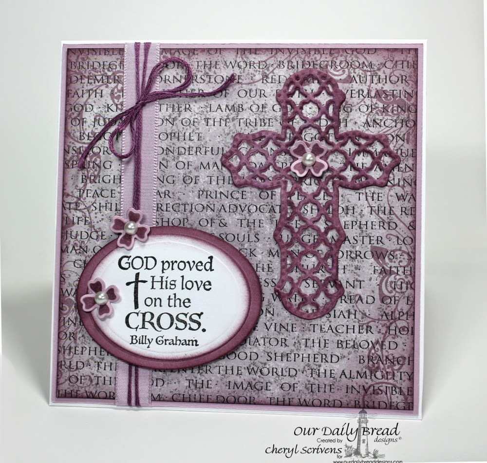 Our Daily Bread Designs, ODBDSLC198, Easter Blessings, The Cross, ODBD Ornamental Crosses dies, ODBD Christian Faith Collection Papers, CherylQuilts, Designed by Cheryl Scrivens