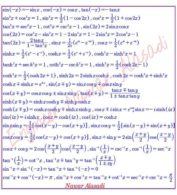 درس الحساب المثلثي