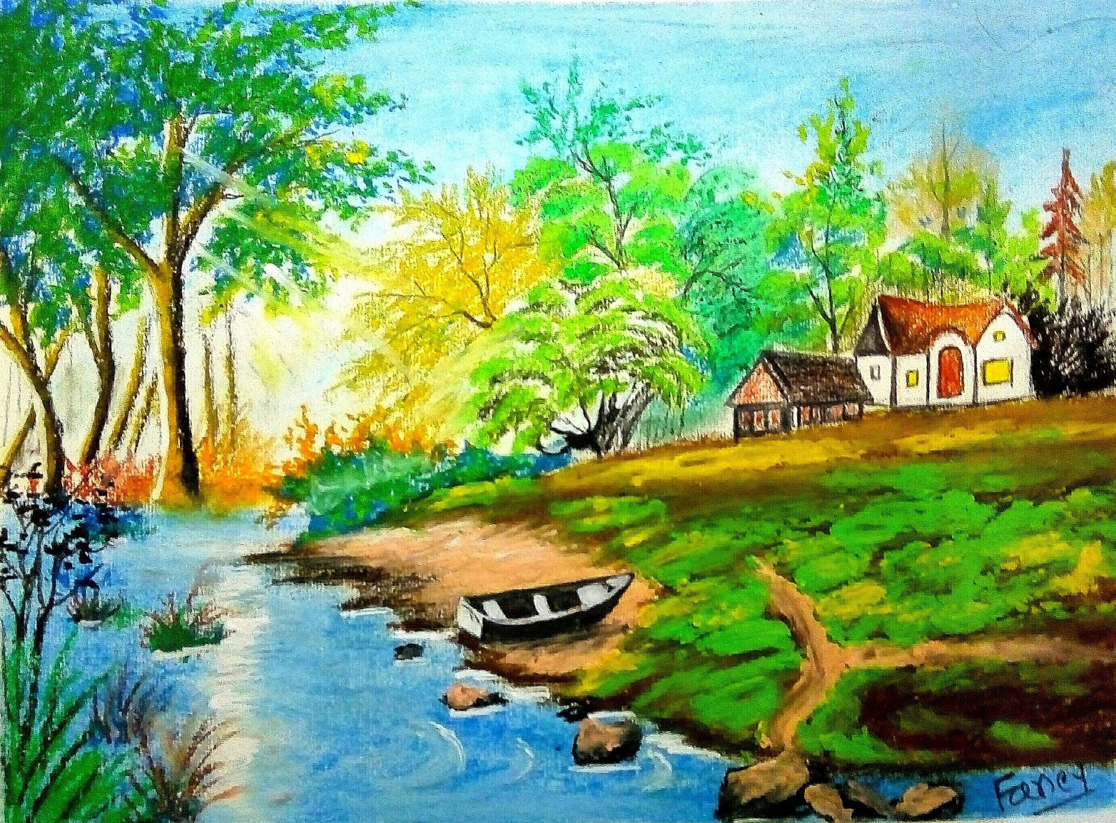 Fancy S Art Easy Landscape Painting