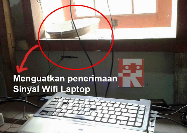 menguatkan sinyal wifi laptop