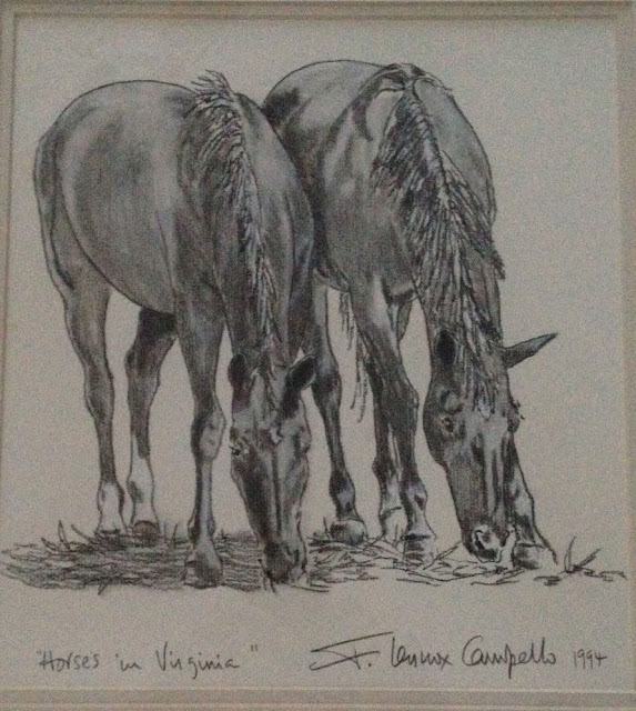 """Horses in Virginia"" 1994 F. Lennox Campello"