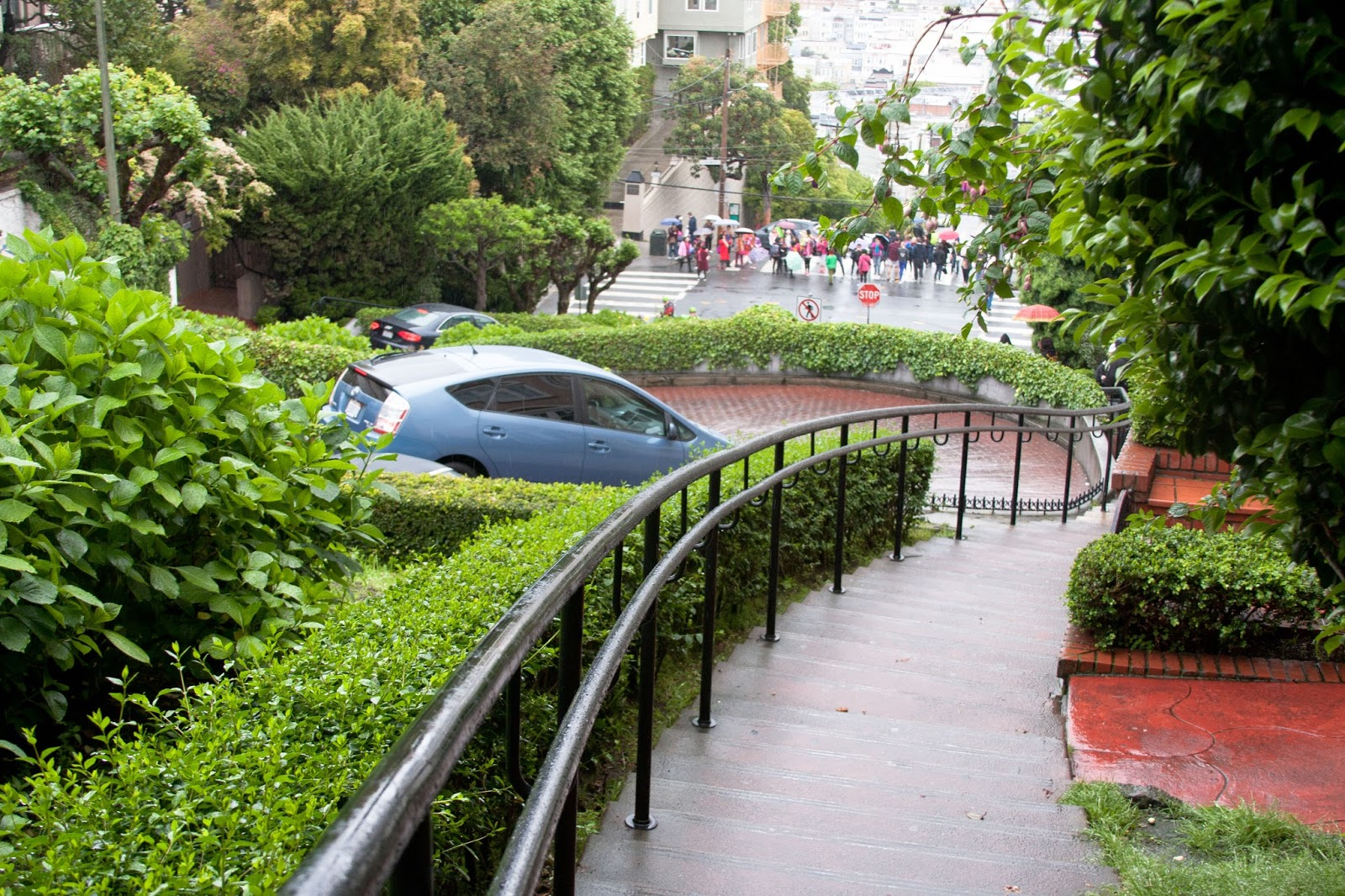 Lombard street with our Prius.