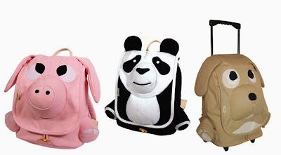 diseño de mochila de varios animales