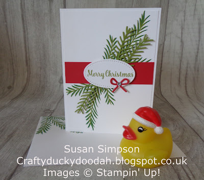 Craftyduckydoodah!, Christmas Pines, Pretty Pines Thinlets, Stampin' Up! UK Independent  Demonstrator Susan Simpson, July 2018 Coffee & Cards Project, Supplies available 24/7 from my online store,