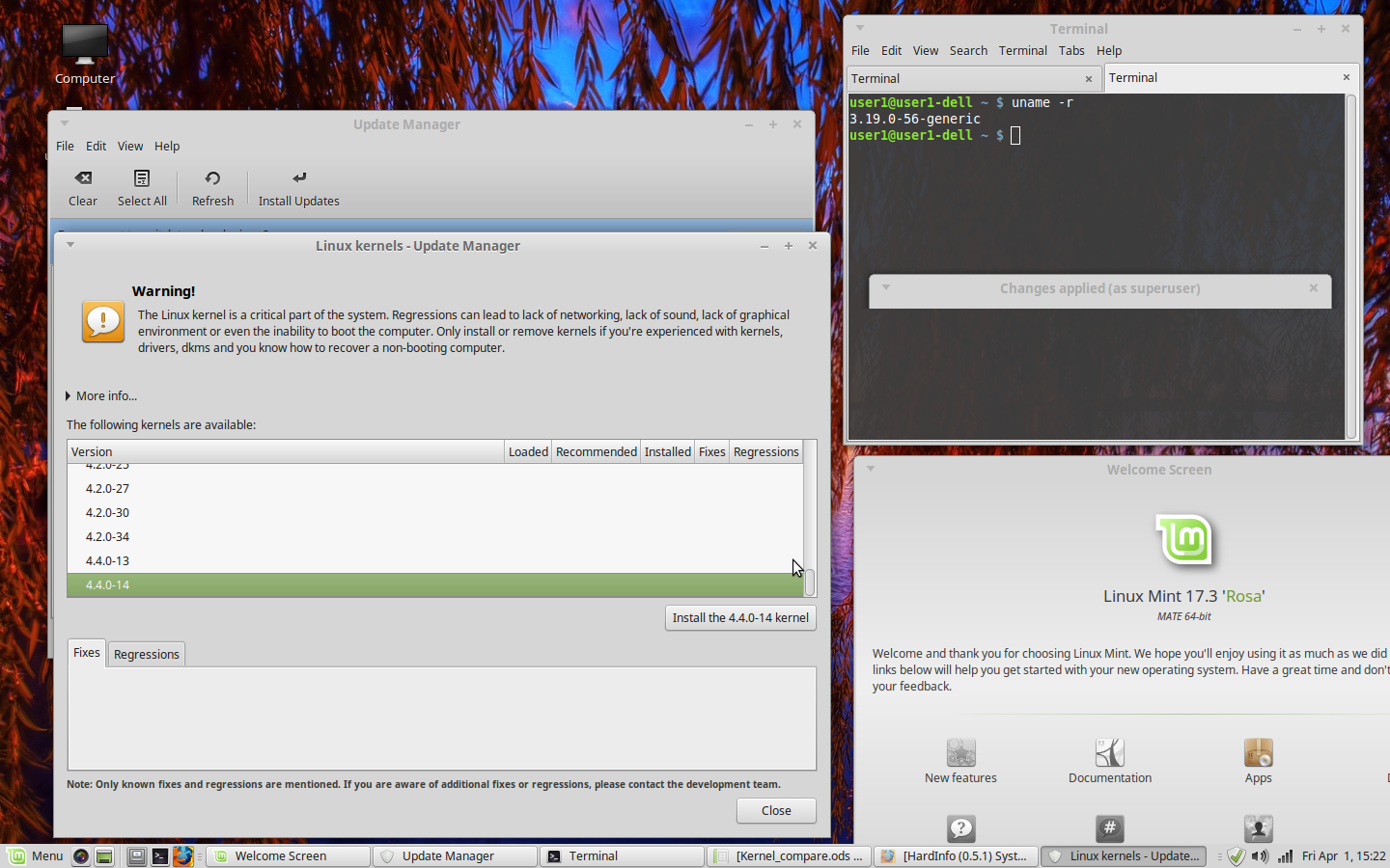 Linux Mint Kernel Upgrade | Internet Tablets and MID