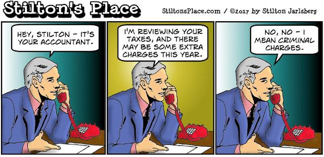 stilton's place, stilton, political, humor, conservative, cartoons, jokes, hope n' change, taxes, black books, accountant, 1040