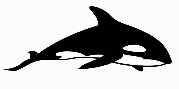 Dolphin Orka tattoo stencil