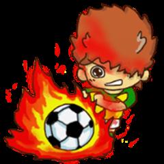 Boy he wants to be a hero.soccer 2