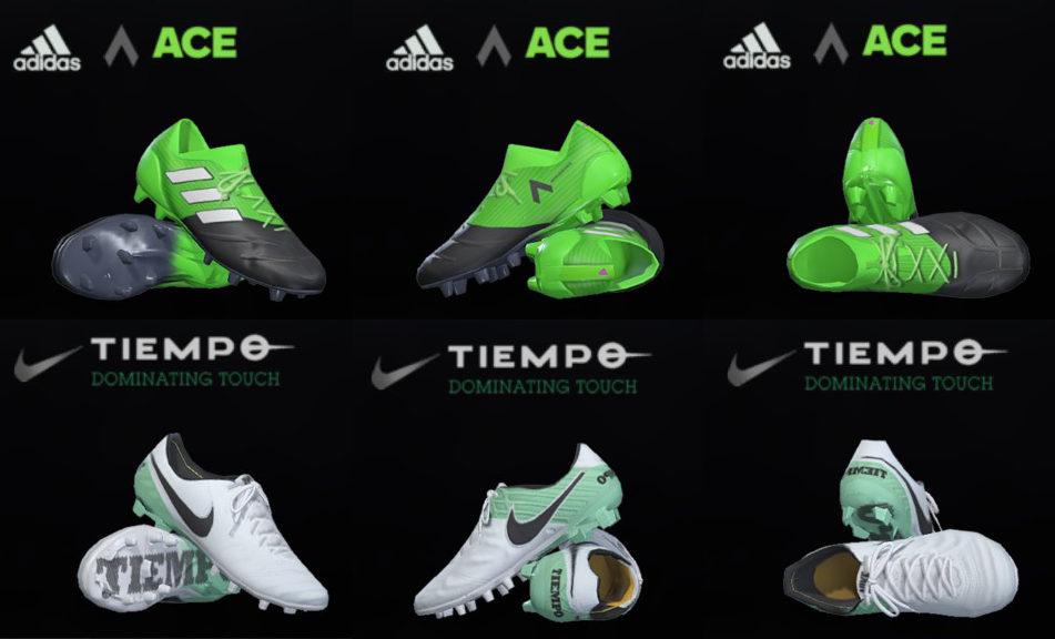 a5e64214996 Yükle (951x576)PES 18   17 Nike Tiempo VI and ACE 17 Leather by T09 - PES  PatchNike Tiempo VI + ACE 17 Leather Pack For PES 18 and 17.