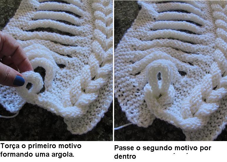 Шапочка и шарф спицами в необычной технике.  Мини МК.