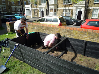 Recycled Plastic Raised Beds in Ainsley Gardens, London