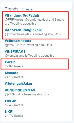 Melalui Tagar #BandungTeuPaduli, Bobotoh Tolak Aksi Lilin Ahoker di Bandung