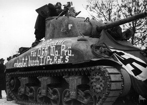 Captured Sherman M4A2 worldwartwo.filminspector.com