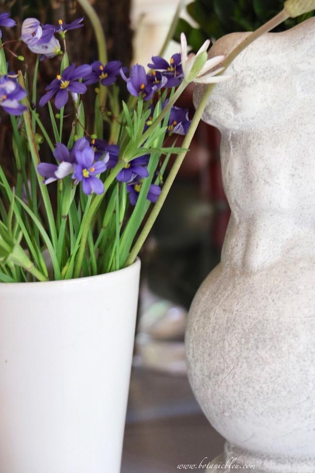 kitchen island spring nesting arrangement design challenge bunny native flowers