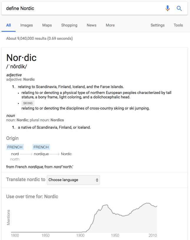 Answer scandinavia google groups for Define scandinavian