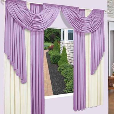 purple living room curtains