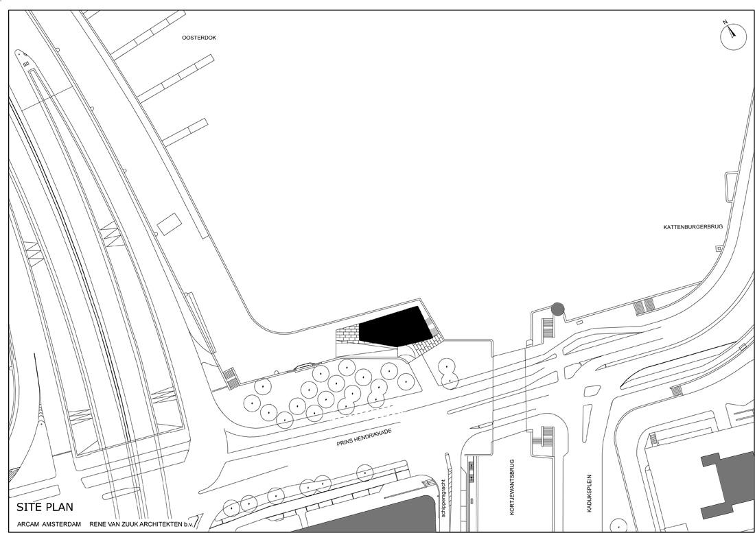 Site plan drawing © courtesy of rené van zuuk architekten
