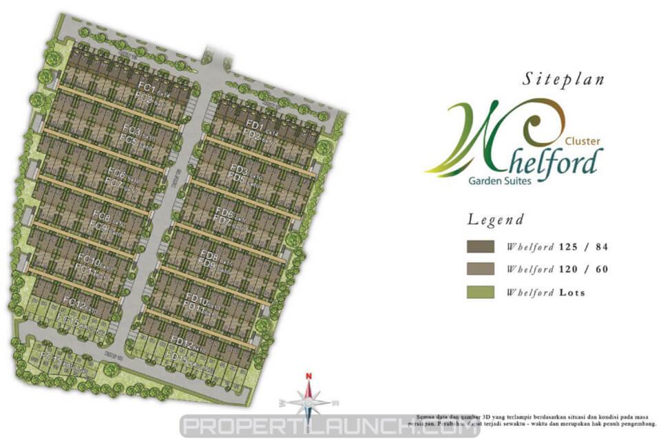 Site Plan Cluster Whelford Garden Suites