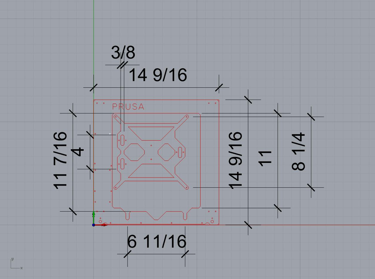 Photo Frame Handverker Prusa I3 Frame Measurements