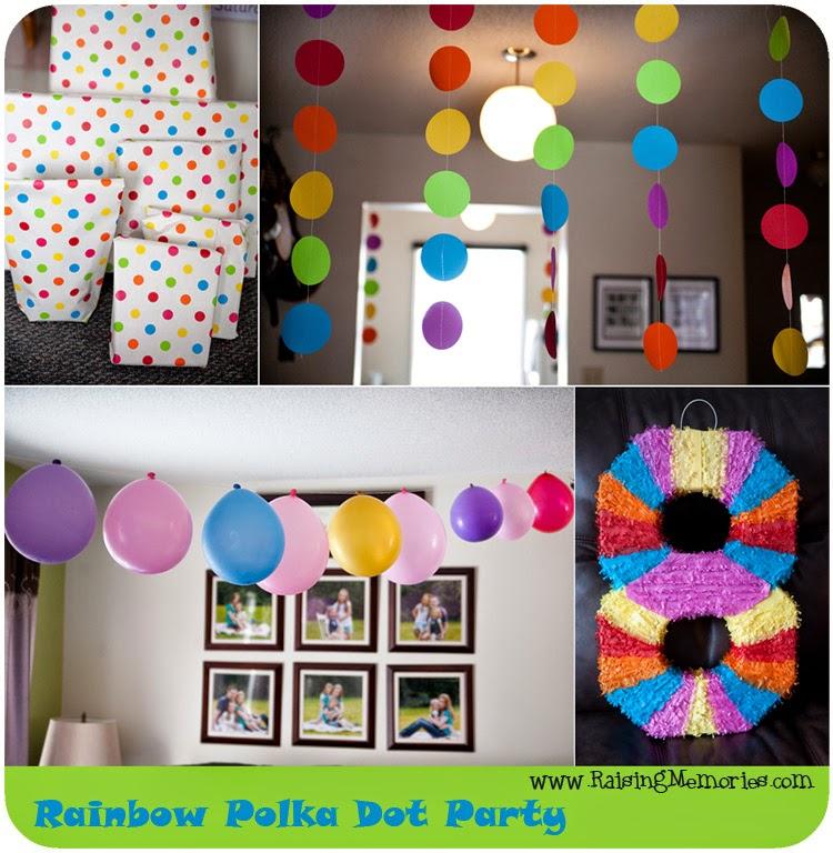 Raising Memories Rainbow Polka Dot Birthday Party