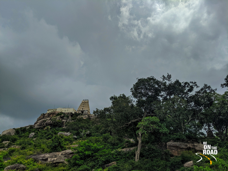 Stunning monsoon view of Yoga Narasimha Swamy temple, Melukote
