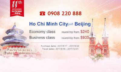 Khuyến mãi Tp HCM - Bắc Kinh
