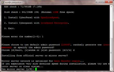 Cara Install CyberPanel di VPS CentOS 7 64 bit
