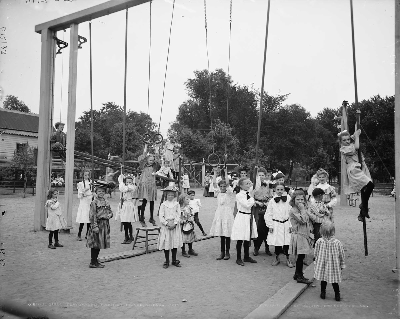 Girls' playground, Harriet Island, St. Paul, Minn. 1905.