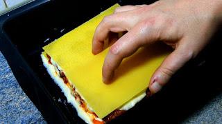 preparación de lasaña