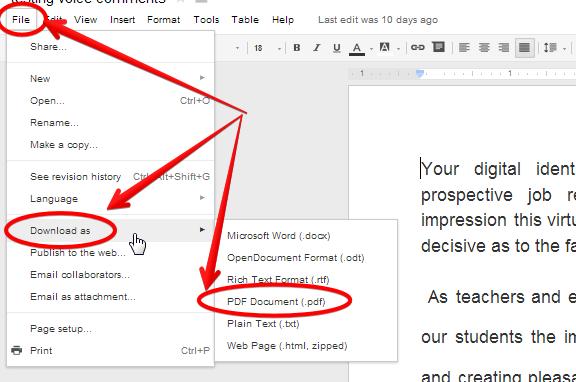 cv pdf reduire format avec google drive