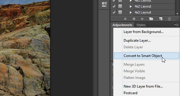 Convert Background layer to Smart Object