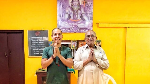 Studying Philosophy and Pranayama with BNS Iyengar