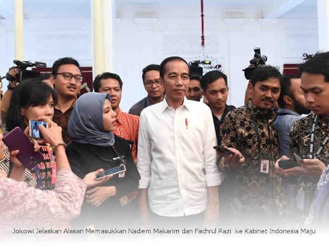 Jokowi Jelaskan Alasan Memasukkan Nadiem Makarim dan Fachrul Razi  ke Kabinet Indonesia Maju