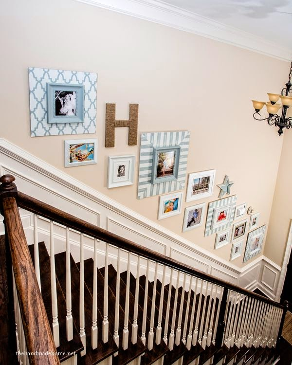 50 Creative Staircase Wall Decorating Ideas, Art Frames