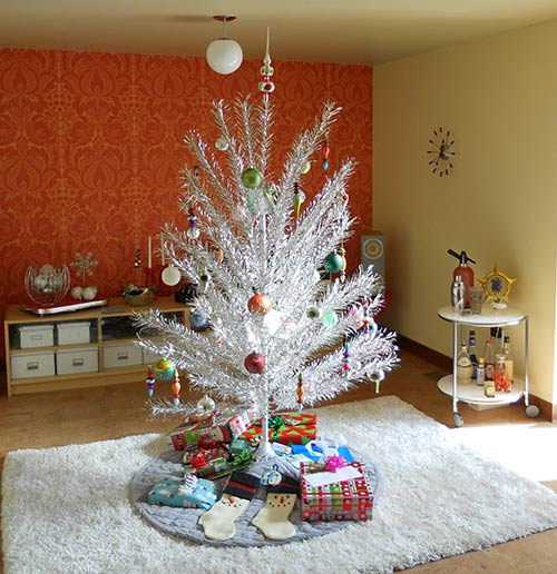 Silver Christmas Tree Color Wheel: Architecture Products Image: Vintage Aluminum Xmas Tree