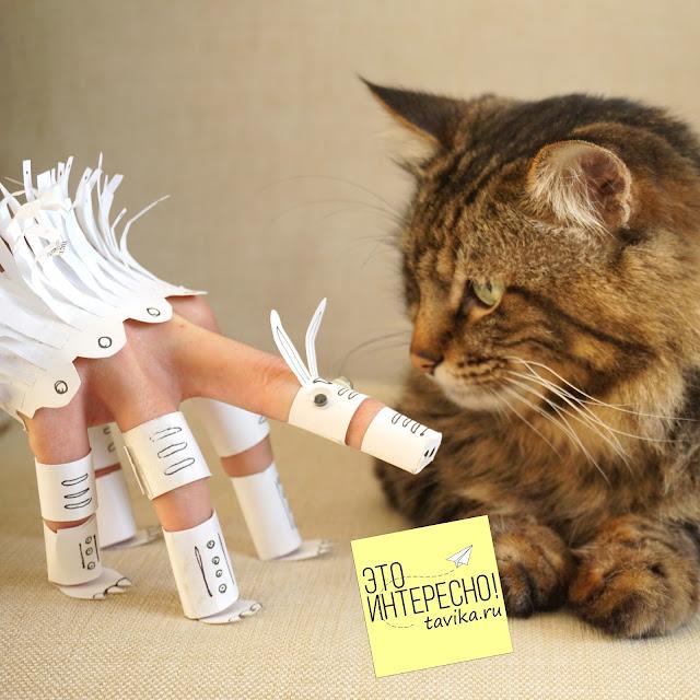 кукла-марионетка из бумаги