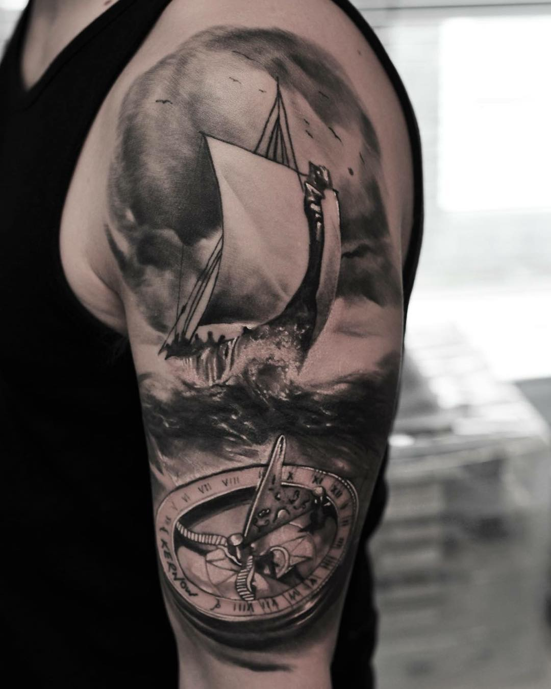 sea storm sail boat tattoo tattoo geek   ideas for best